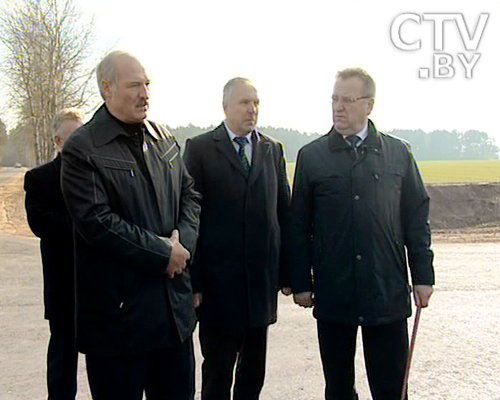 The photo. Lukashenko during the working visit in the Pruzhany district of the Brest region